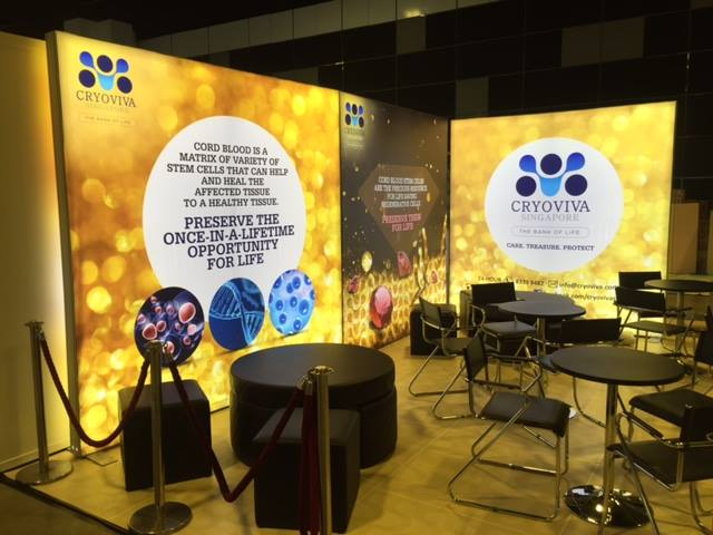 Fabric Exhibition Stand Quotes : Cryoviva chooses isoframe backlit fabric light box